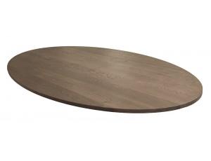 Ovaal tafelblad 40 mm dik