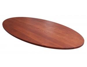 Ovaal tafelblad 30 mm dik