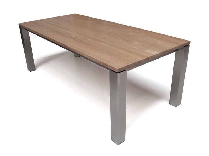 Eetkamertafel Hout Met Rvs : Stel hier uw meubel samen: