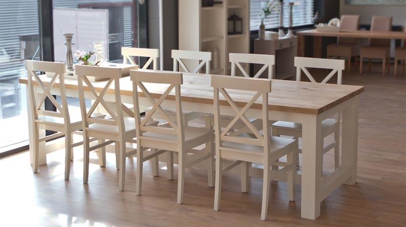 Eettafel 240 Cm.Eiken Eettafel Provence