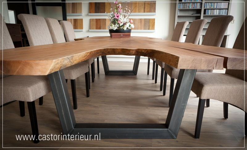 Houten Boomstam Tafel : Rode plataan boomstam tafel