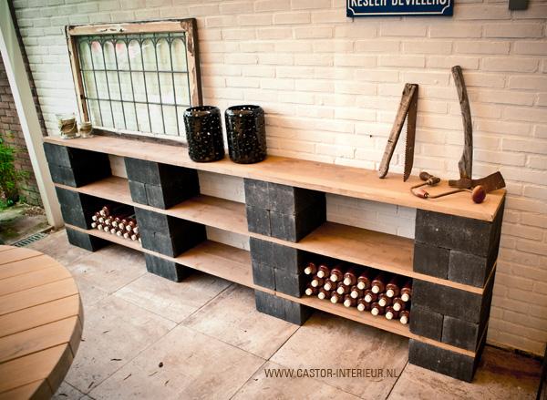 Zelf een sidetable maken - Planken maken in een kast ...