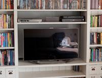 Boekenkast met tv-vak